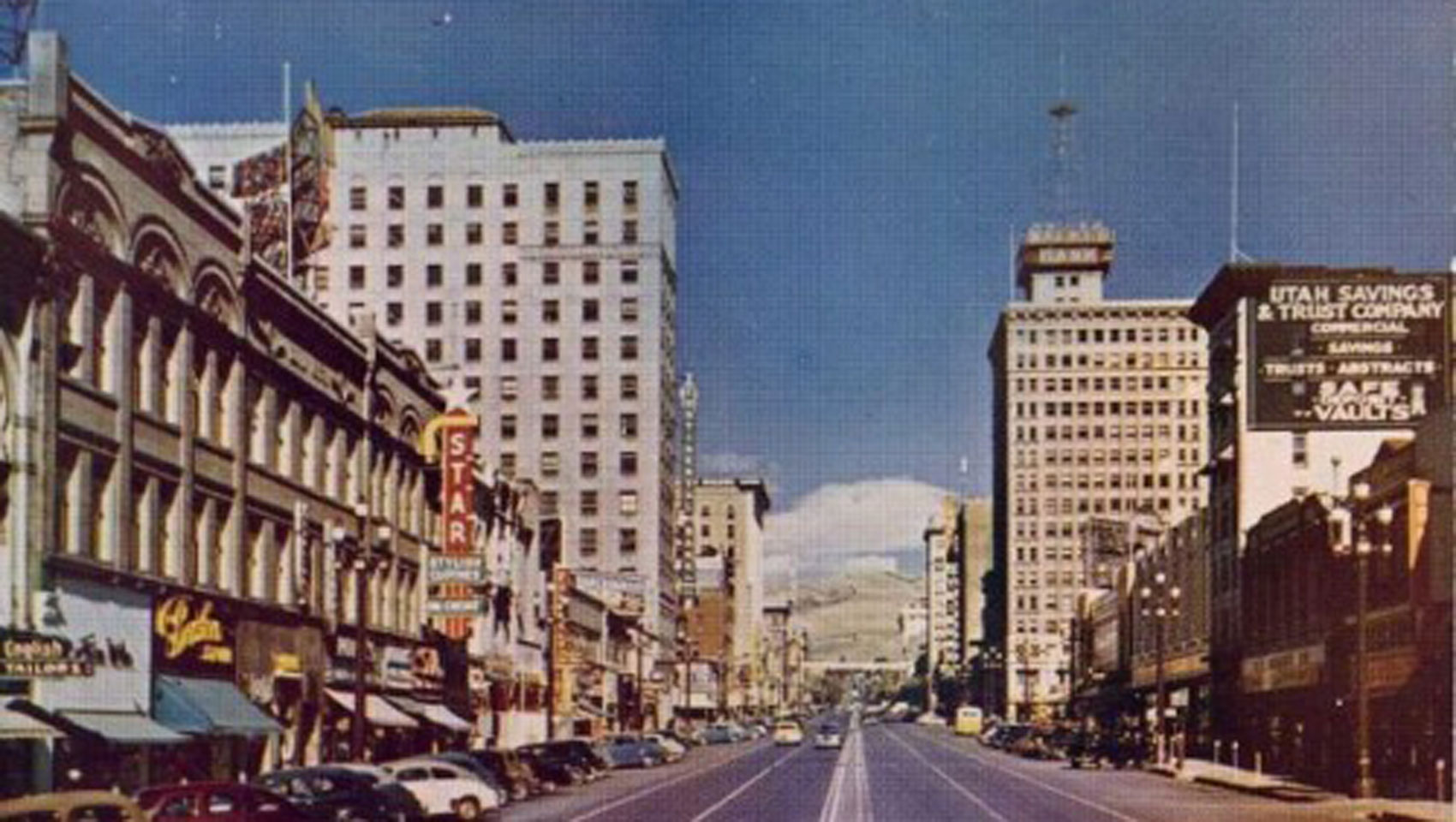 Historical Shot of Downtown Salt Lake City