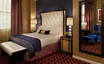 kimpton salt lake city hotel monaco deluxe guestroom bed